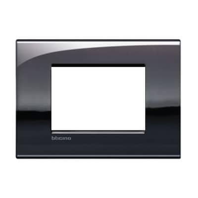 Placca BTICINO Living Light Air 3 moduli peltro