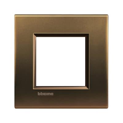 Placca BTICINO Living light 2 moduli bronzo opaco