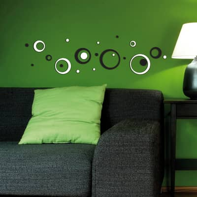 Sticker Black & white circles 15.5x34 cm