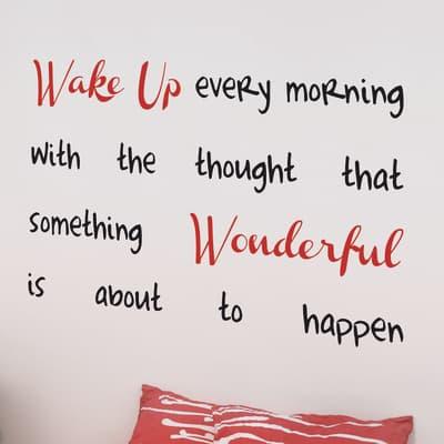 Sticker Sticker Words Up XL Wake up 47x67 cm