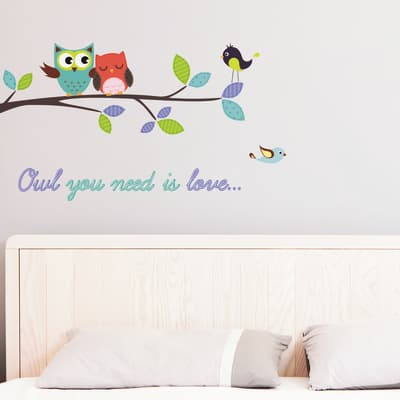 Sticker Sticker L Owl you need 100x35 cm