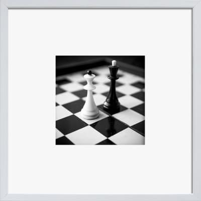Stampa incorniciata Scacchi 30x30 cm