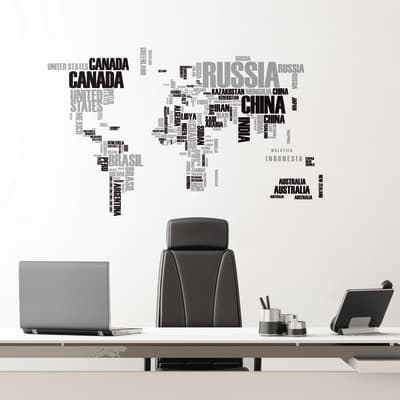 Sticker World map 6x73 cm