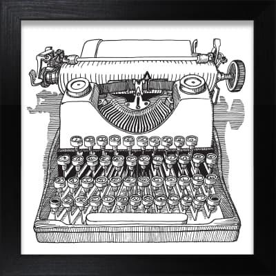 Stampa incorniciata Macchina Da Scrivere 30x30 cm