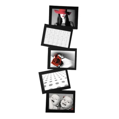 Cornice Storty per 5 fotografie 13 x 18 nero