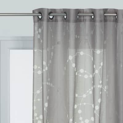 Tenda Bubbles grigio occhielli 140 x 280 cm