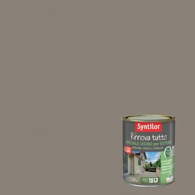 Smalto per legno da esterno base acqua SYNTILOR Rinnova Tutto marrone corteccia 0.75 L