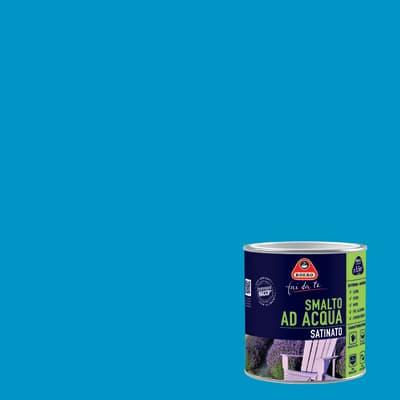 Smalto BOERO FAI DA TE base acqua blu turchese 0.5 L