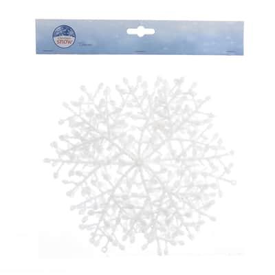 Fiocchi di neve bianchiØ 23 cm confezione da 3 pezzi