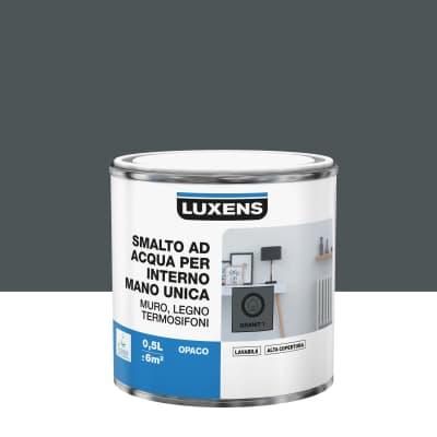 Vernice di finitura LUXENS Manounica base acqua grigio granito 1 opaco 0.5 L
