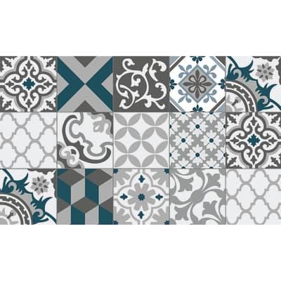Tappeto Cucina antiscivolo Relax piastrella grigio 230x50 cm