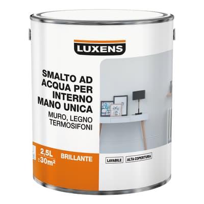 Vernice di finitura LUXENS Manounica base acqua bianco lucido 2.5 L