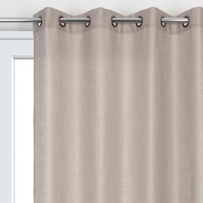 Tenda Infini marrone occhielli 140x280 cm