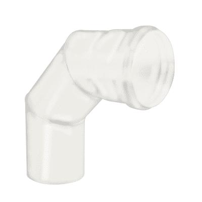 Curva 90° Curva smaltata bianco  a 90° Dn 80 mm in acciaio al carbonio