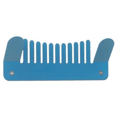 Appendiabiti Comb in ferro 2 ganci blu