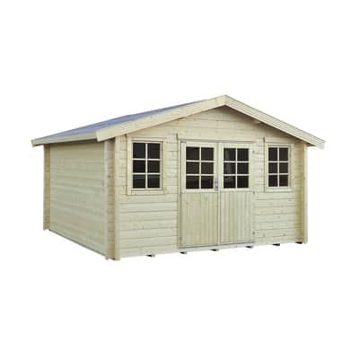 Casetta da giardino in legno Kuttura 13.03 m² spessore 44 mm