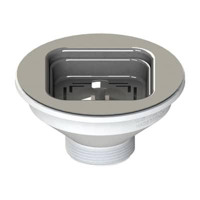 Piletta standard in inox per lavello/lavabo Ø 114 mm
