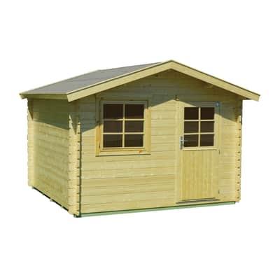 Casetta da giardino in legno Vanamo 8.58 m² spessore 34 mm