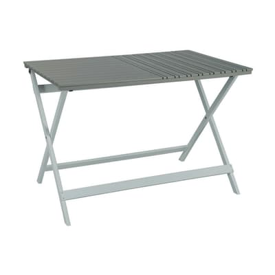 Tavolo da giardino rettangolare con piano in legno L 72 x P 108.4 cm