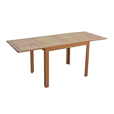 Tavolo da giardino allungabile  rettangolare NATERIAL con piano in legno L 150 x P 70 cm