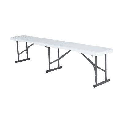 Panca da giardino senza cuscino pieghevole in ferro Lifetime colore bianco