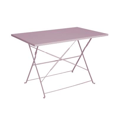 Tavolo da pranzo per giardino rettangolare Color con piano in ferro L 70 x P 110 cm
