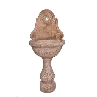 Fontana a parete Siena in calcestruzzo H 120 cm, 53 x 35 cm