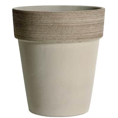 Vaso Alto Vulcano in terracotta colore grigio H 17 cm, Ø 15 cm