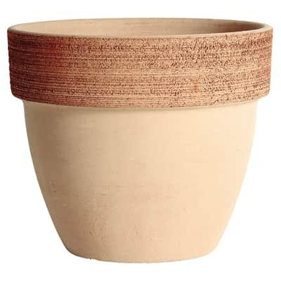 Vaso Palladio graffiato in terracotta colore impruneta H 26 cm, Ø 30 cm