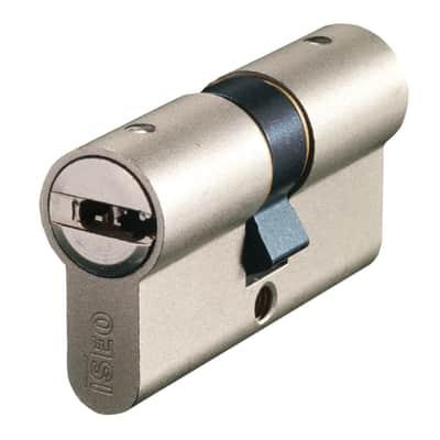 Cilindro Europeo doppio profilo in acciaio nichelato interasse 25 mm