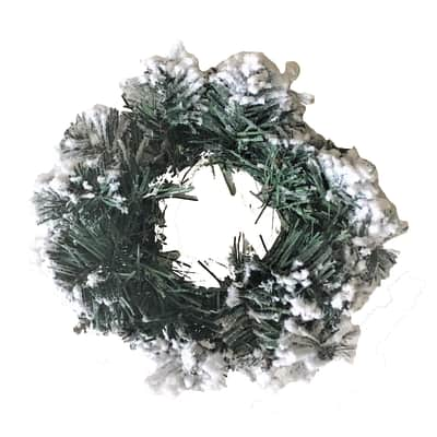 Corona di natale verde e bianco Ø 30 cm