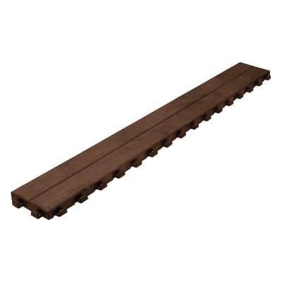 Listone da esterno Effetto legno in polipropilene marrone L 118 x H 14.5 cm, Sp 32 mm