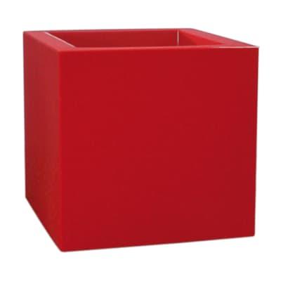 Vaso Kube Gloss EURO3PLAST in plastica colore rosso H 40 cm, L 40 x P 40 cm