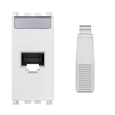 Connettore rj45 VIMAR Arké bianca