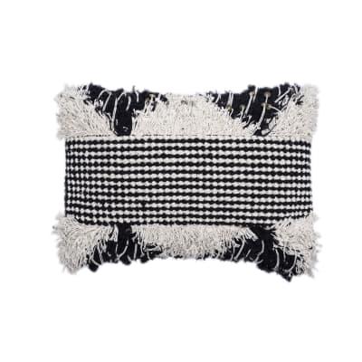 Cuscino Bengalore bianco e nero 50x30 cm
