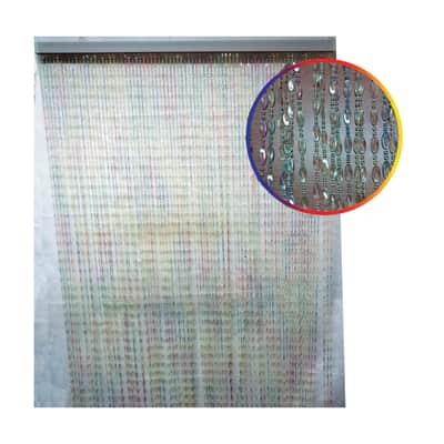 Tenda per porta 0682MC trasparente e multicolore 120x230 cm