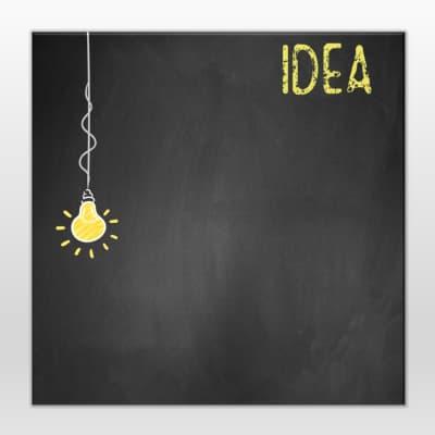 Lavagna Idea lamp nero 28x28 cm