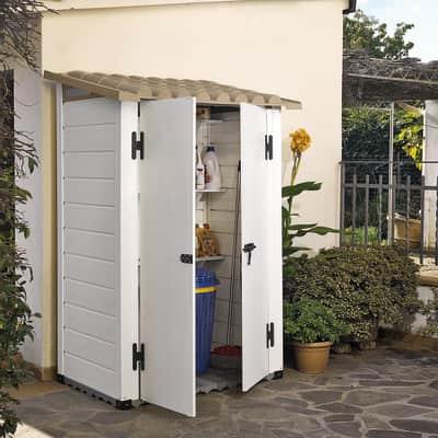 Casetta da giardino in pvc Tuscany 100,  superficie interna 0.88 m² e spessore parete 20 mm