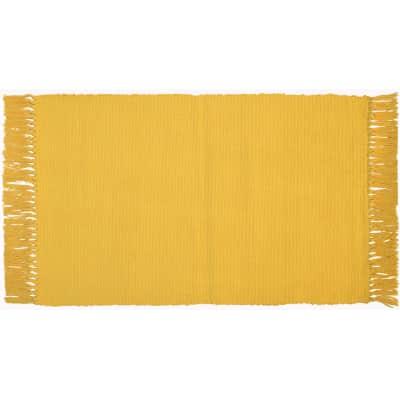 Tappeto Basic in cotone, giallo, 50x80 cm