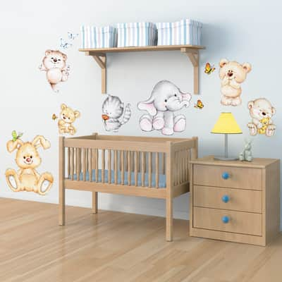 Adesivi Murali Leroy Merlin.Sticker Wall Sticker Cute Animals 47x67 Cm Prezzo Online Leroy Merlin