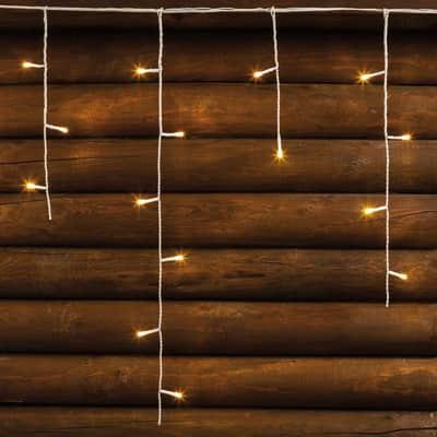 Tenda luminosa 480 lampadine led bianco caldo H 60 x L 400 cm