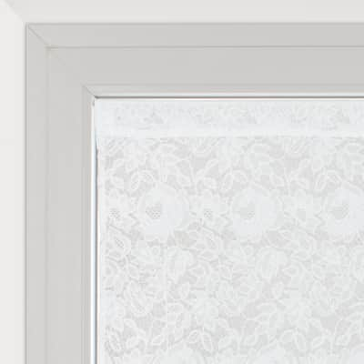 Tendina a vetro regolabile Cleopatra bianco tunnel 60x150 cm