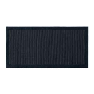 Tappeto Nevra in cotone, grigio scuro, 50x110 cm