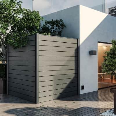 Perlina singola per composizione kyoto grigio  L 175 x H 15 cm Sp 21 mm