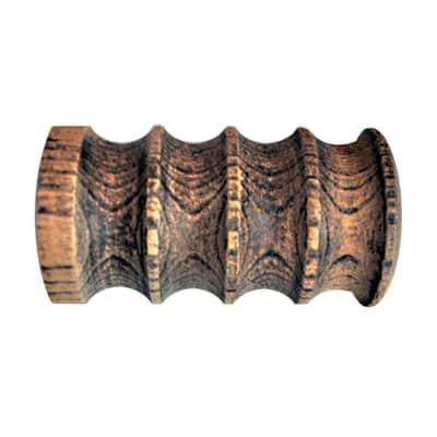 Finale per bastone Ø28mm Pagoda cilindro in legno avorio impregnato INSPIRE
