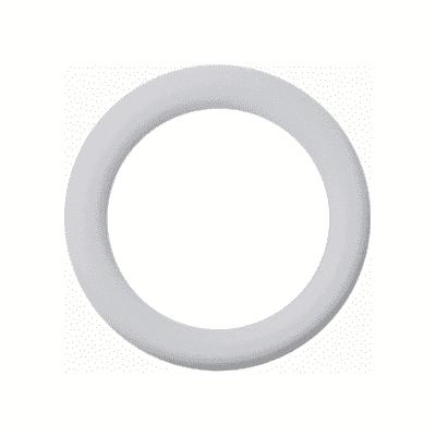 Anelli Ø20mm in metallo bianco lucido INSPIRE, 10 pezzi
