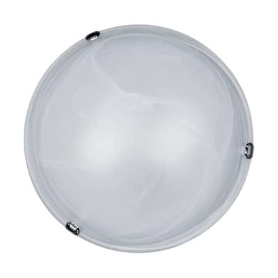 Plafoniera Emma bianco, in vetro, diam. 40 cm, E27 2xMAX60W IP20 LEXMAN