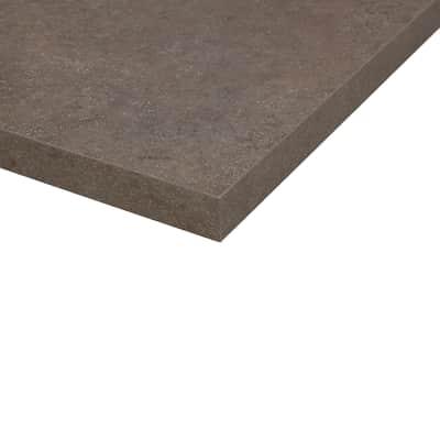 Piano cucina su misura in truciolare Porfido Sabbia marrone scuro , spessore 4 cm