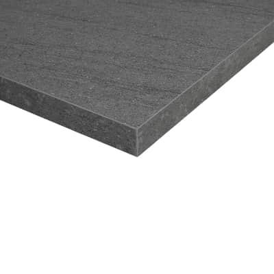Piano cucina su misura in truciolare Pietra Lavica grigio scuro , spessore 6 cm
