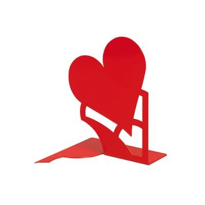 Fermalibri Mon Amour L 14.6 x H 19 cm rosso